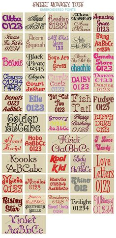 Embroidery fonts, alphabets and monograms at affordable prices. Embroidery fonts, our specialty, your memory. Machine Embroidery Projects, Machine Embroidery Applique, Applique Patterns, Applique Designs, Cross Stitch Embroidery, Hand Embroidery, Embroidery Ideas, Embroidery Monogram Fonts, Lettering Tutorial