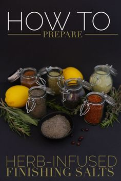 How to prepare herb-infused finishing salts + properties of salts from around the world // from Blog Castanea
