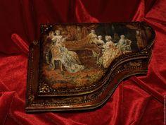 Купить Шкатулка для украшений Старинный рояль. Антикварное пианино. Подарок - шкатулка для украшений, шкатулка декупаж