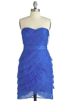 This is love at first sight. Haven't been so into a blue dress since my senior prom. Need to get this for spring!