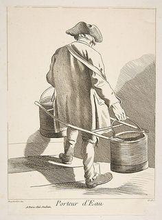 Water Carrier, Paris, 1742, Anne Claude de Tubieres, after Edme Bouchardon…
