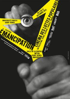 "Sébastien Marchal - ""Festival Émancipation"", Université Paris 8 - Affiche - 2012"