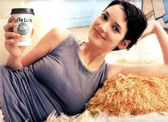 "Winona Ryder says: ""Drink Caffe Latte. Keeps your breasts energized and supersized!"" ♥♥♥♥♥"