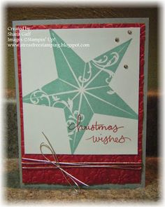 tamp Sets: Christmas Star, Endless Wishes Cardstock: Real Red, Smoky Slate, Whisper White Ink: Coastal Cabana, Real Red Tools: Petals-a-Plen...