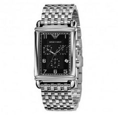 Emporio Armani AR0299 Stainless Black Chronograph Mens Watch UK on sale armaniemporiowatches.co.uk