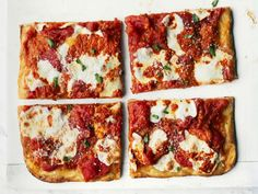 This may look like an ordinary red sauce pizza, but the vibrant red topping is actually a spicy red pepper spread. Buffalo mozzarella is the preferable cheese for this one.