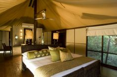 While Ngala Tented Safari Camp never lets you forget that you are in the wild, there is nothing primitive about this chic and contemporary camp  http://www.africanwelcome.com/kruger-national-park/private-game-lodges-timbavati-kruger-national-park/and-beyond-ngala-tented-camp-kruger-national-park