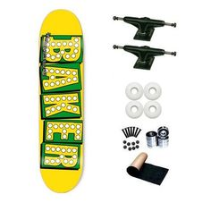 Baker Yellow Bake Shake Junt 7.75 Skateboard Deck Complete by Baker. $68.99. SL Abec 3 Bearings. Shorties Hardware, Randel Grip Tape. Brand New Baker Skateboard Deck 7.75 x 31.5. Frontage Trucks. Yellow Jacket Wheels 53mm. Brand New Top Quality Baker Skateboard Complete