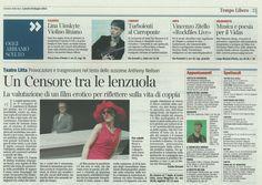 """Su Corriere della sera """"Concerto e poesie di tarda primavera per Vidas"""""""