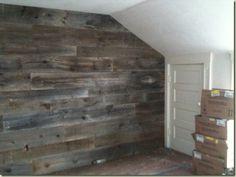 Barnwood wall.