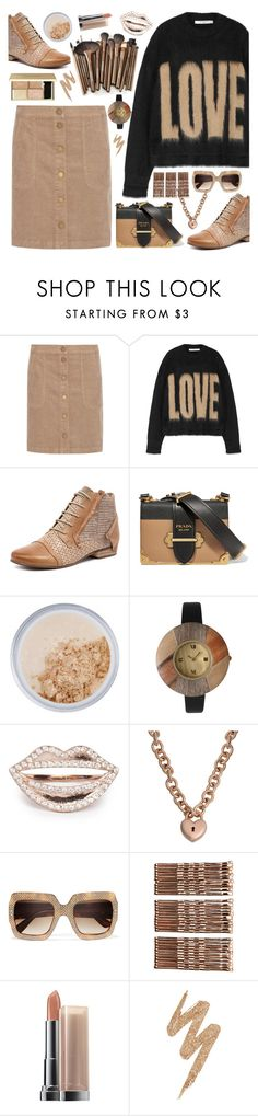 """Love Neutrals"" by mmk2k ❤ liked on Polyvore featuring Tory Burch, Givenchy, Django & Juliette, Prada, New CID Cosmetics, Olivia Pratt, Gucci, Monki, Maybelline and Urban Decay"