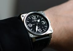 Bell & Ross BR 03-92  BL check and the date is one I will never forget!  Eyes opened!