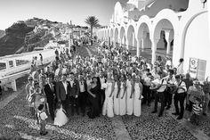 Santorini Wedding - group shot outside the church Santorini Wedding, Group Shots, Destination Wedding Photographer, Elegant Wedding, Dolores Park, The Outsiders, Places To Visit, Greek, Wedding Photography