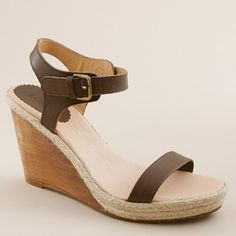 leather, jute and wood wedges from j crew