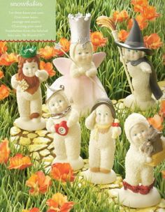 SNOWBABIES Dept. 56 Figurine Complete Full Characters Set of 6 THE WIZARD OF OZ