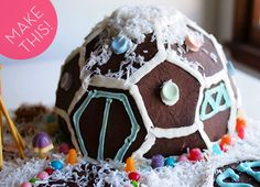 Make a DIY Geodesic Dome Gingerbread House!
