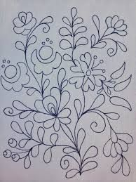 Embroidery Design by Rita Barton: Painted Hungarian Folk Art Flowers @ ritaba . Mexican Embroidery, Hungarian Embroidery, Learn Embroidery, Crewel Embroidery, Embroidery Letters, Simple Embroidery, Embroidery Jewelry, Embroidery Flowers Pattern, Flower Patterns