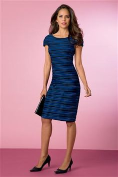 Textured-Cap-sleeve-Dress