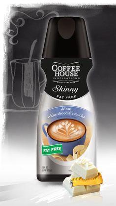 International Delight Presents: Skinny White Chocolate Mocha. Makes better tasting coffee than Starbucks. Yummy Drinks, Healthy Drinks, Healthy Foods, Healthy Recipes, White Chocolate Mocha, White Mocha, Keurig Recipes, Coffee Recipes, Starbucks Drinks
