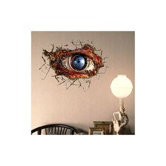 Art Mural - Stickers Muraux - 3D Sticker mural - Art Wall Paper Eye 3D revêtements muraux PVC lavables mur