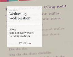 Wedding Readings Ceremony Funny Unusual Non