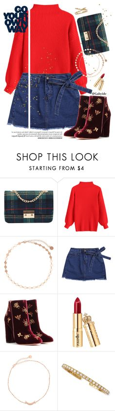 """""""🌹preppy rose"""" by gabyidc ❤ liked on Polyvore featuring Aquazzura and Platinum Heart"""