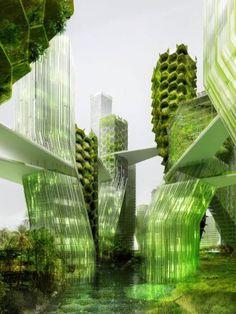 Un projet futur de ville dépolluante - Les villes biomimétiques