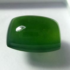 18.9 Carat 19.6x14x9 mm Natural Top Green Serpentine Cushion Cabochon #Unbranded