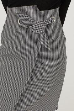 Юбка-карандаш с рисунком - Белый/Гусиная лапка - Женщины | H&M RU 2