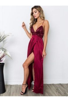 Cheap Prom dresses UK,Buy Sexy A-Line Sheath V-neck Sequined Silk-like Satin Ankle-length Split Front Backless Prom Dresses UK on Cheap Prom Dresses Uk, Split Prom Dresses, Straps Prom Dresses, Prom Dresses For Teens, Prom Dresses 2018, Long Prom Gowns, Backless Prom Dresses, Chiffon Dresses, Dress Prom