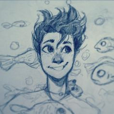 Percy Jackson much? Pretty Art, Cute Art, Cool Drawings, Drawing Sketches, Character Art, Character Design, Cartoon Kunst, Arte Sketchbook, Percy Jackson