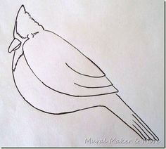 How to paint a red cardinal.....and other  paint tutorials at MuralMakerandMore
