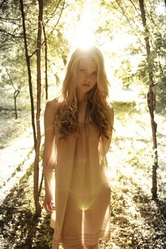"Brightness  sexy girl in forest, see through outfit  (""voted"" Top Sexy & Beautiful by community from Kythoni: Women Are Beautiful 2 board) pinterest.com/kythoni"