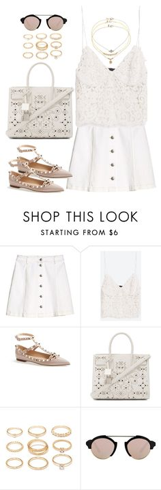 """""""Untitled#4447"""" by fashionnfacts ❤ liked on Polyvore featuring H&M, Zara, Valentino, Yves Saint Laurent, Forever 21, Illesteva and Miss Selfridge"""