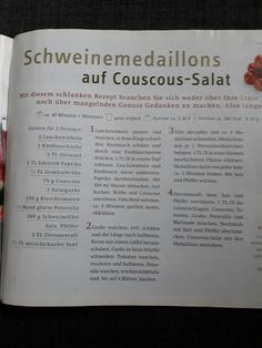 Schweinefilet auf Couscous-Salat