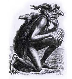 Eurynome is a superior demon and prince of death. He wears a fox skin to cover the sores covering his body, and he has huge teeth. A statue of him exists in the temple of Delphi depicting him having a black complexion, huge wolf-like teeth, and sitting on a vulture skin. Pausanias said he fed on carrion and dead bodies.