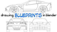 Drawing Car Blueprints in Blender