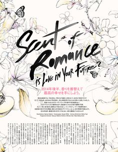 Lettering Inspiration by Spiros Halaris VOGUE JAPAN - Scent Of Romance on Behance
