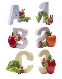 Eric Carle's The Very Hungry Caterpillar Letters A B C & Numbers 1 2 3  John Beswick Figurine