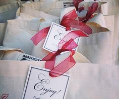 Wedding Welcome Bags, Out of Town Guests, Gift Bags, Regional Specialties, Custom Gift Bags || Colin Cowie Weddings