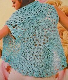 crochet mens vest patterns free | Circular Vest, free pattern diagram #crochet
