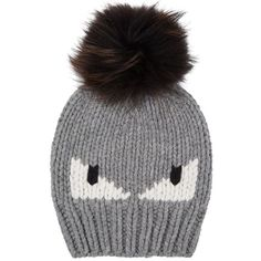 166d33ec Fendi Monster Fur Bobble Hat (1.625 RON) found on Polyvore featuring men's  fashion,