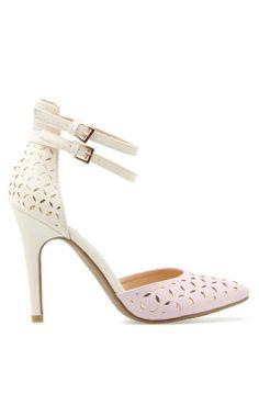 Colorblock heels
