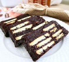 mini mocha kek batik (hedgehog slice)