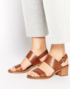 Carvela Kimberly Tan Leather Block Heeled Sandals