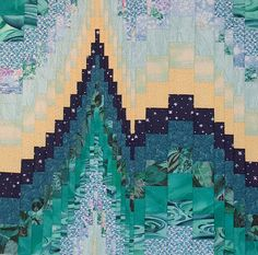 Bargello Mountains, Patchwork Design
