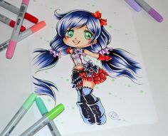 Chibi Nozomi from Love Live! School Idol Project by Lighane.deviantart.com on @DeviantArt