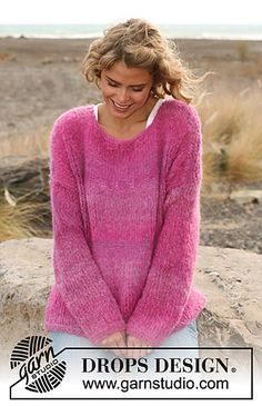sweater, free pattern, knit with 1 skein of Drops Verdi!