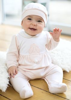 ab1a2607311 Emile et Rose Girls pink babygrow set available at Childrensalon Rose Girl