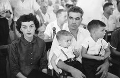 Ed Clark—Time & Life Pictures/Getty Images Defendant Roy Bryant sits with his wife Carolyn and their children during his trial for the kidnapping and murder of Emmett Till.  Read more: http://life.time.com/history/the-murder-of-emmett-till-and-the-sham-trial-that-shocked-the-nation/#ixzz2cFoEmOWF